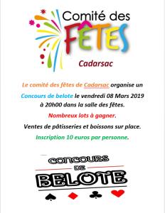 concours de belote seconde édition