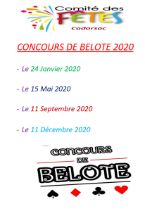 concours belote 2020